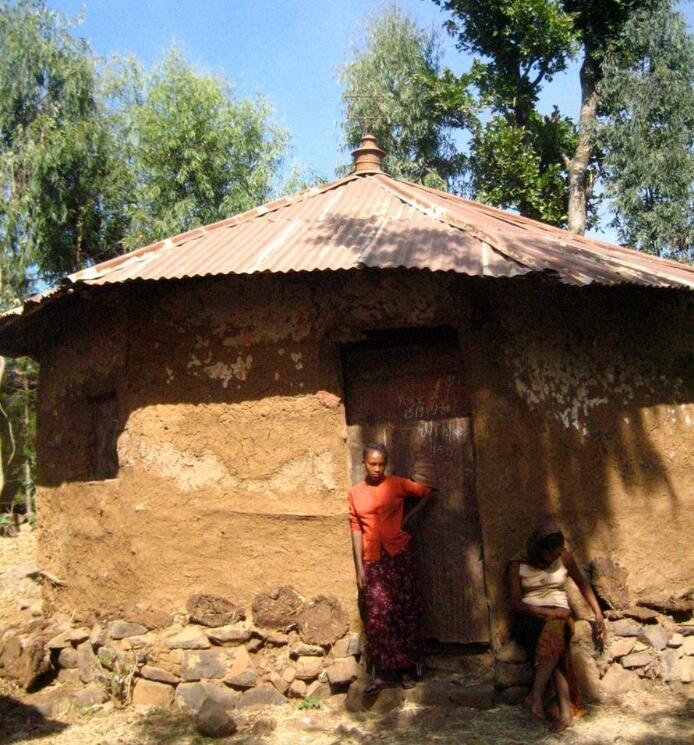 Synagogue in the village of Beit Israel in Ethiopia
