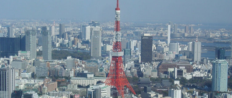 Tokyo view with Tokyo tower