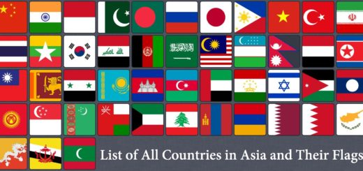 Countries and Flags in Asia