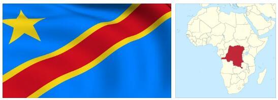 Congo-Kinshasa Flag and Map