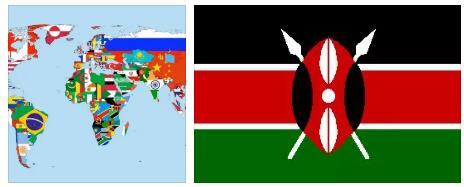 Kenya Flag and Map 2