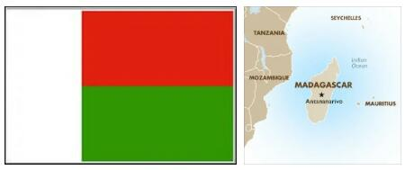 Madagascar Flag and Map