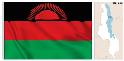 Malawi Flag and Map