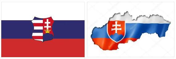 Slovakia Flag and Map