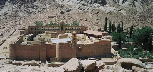 Catherine's Monastery in Sinai on Mount Moses