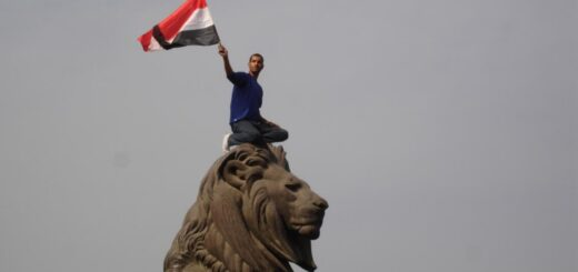 The lion of the Egyptian revolution